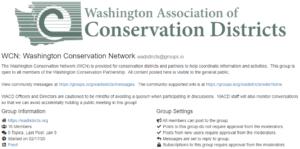 Washington Conservation Network